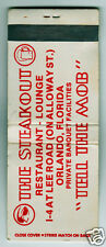 "Vintage Matchbook Cover The Steakout Restaurant ""Tell The Mob"" Orlando Florida"