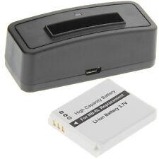 Ladegerät + Akku Typ Canon NB-6L Batterie Ladestation Accu Battery Ersatzakku
