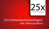 25x Visitenkarten Templates Vorlagen Visitenkarte Layout inkl. PSD Files