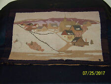 """Grenfell HandMade in Canadian Labrador Hooked Area Rug """"The Village"""""""