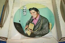 """ELVIS PRESLEY LOOKING AT A LEGEND PLATE 6 """"A STUDIO SESSION"""" NEW IN BOX"""