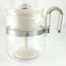 Gemco Glass-Perk Coffee Maker Vintage Almond Stovetop Percolator Made in the USA