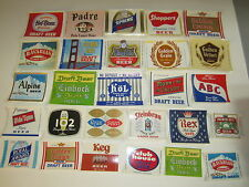 Lot of 27 Old Vintage 1960's Beer Labels - Maier Brewing - Los Angeles