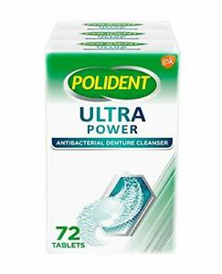 Polident retainer, denture cleanser tablets ultra power (3 PK) 216 Ct EXP 9/20