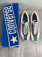 NEW Vintage Deadstock Women's Converse Tennis Shoes Size 5 White Blue Label
