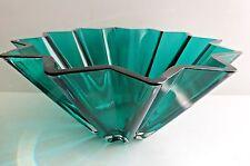 Royal Doulton Crystal Emerald Green Vase Bowl Large