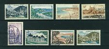France 1954 Views full set of stamps. Used. Sg 1205-1211a.