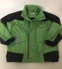Active Club Garçons Veste Manteau de pluie 6 ans vert noir avec Fold Away Capuche