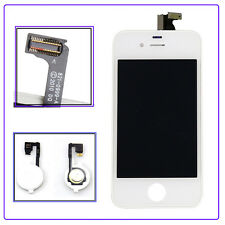 New LCD Screen Touch Digitizer Home Button Flex Connector For iPhone 4 GSM White