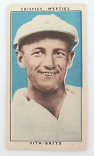 "c1948 DON BRADMAN CARD. CEREAL FOODS ""LEADING CRICKETERS""."