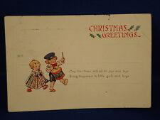 Vintage Christmas CARD - POSTCARD 1924  Imperial Kansas to Hudson Colorado RARE!