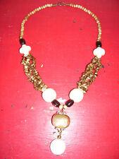 TRES BEAU BIJOU ORIGINAL COLLIER POUR SOIREE avec perle en verre