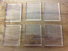 ACRYLIC STAMPING BLOCKS  5mm 6 pack *NEW * MADE IN THE UK