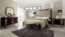 Tufted Headboard With Antique Mirror On Back King Bed
