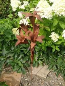 Edelrost Rose Amelie 130 cm Edelrostblume Metallblume Blume Rost Garten Metall