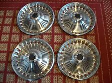 """1973-1974 Plymouth Barracuda and Passenger Car   Set of Four 14"""" OEM Hubcaps"""