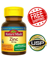 Nature Made Zinc Vitamin 30 mg Dietary Supplement 100 Tablets
