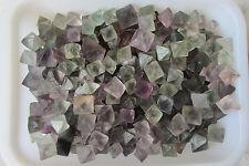 100G Natural Octagonal Fluorite Crystal Rock Pyramid Point Specimen