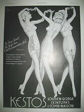 PUBLICITE DE PRESSE KESTOS SOUTIEN-GORGE COMBINAISON CEINTURE FRENCH AD 1940