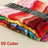 50 Multi DMC Colors Cross Stitch Cotton Embroidery Thread Floss Sewing Skeins ,j