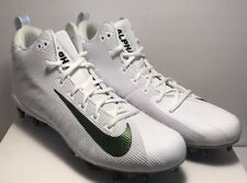 Nike Mens Size 10 Alpha Menace Pro Mid Football Cleats White Silver 871451-011