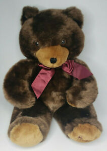 "1990 Harrods Christmas 17"" Large Teddy Bear Stuffed Plush Toy Nice (U46)"