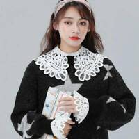 Fashion Women Lace Detachable Collar Choker Inside Shirt Fake Collar Clothes Q