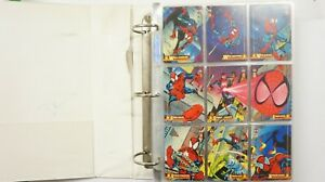 Spiderman 1994 set of 150 cards, 4 holograms and 12 clearchrome Fleer