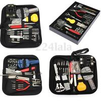 144-380Pcs Kit Watch Repair Tool Back Case Set Opener Remover Spring Pin Bar NEW