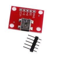 Mini USB Adapter Plate USB Mini-B Extension Breakout Board Module