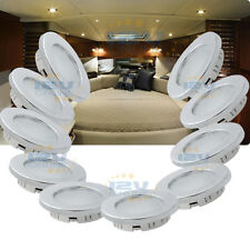 "10x12V 2.75"" LED Recessed Ceiling Light RV Trailer Marine Dimmable Down Light WW"
