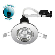Recessed Gu10 Fixed Ceiling Spotlight Downlight 240v Mains Light Downlighter Chrome 10