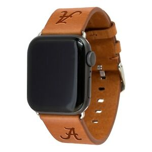 Alabama Crimson Tide Premium Leather Band Compatible With the Apple Watch