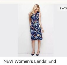 Lands End 22 W Floral Sleeveless Dress Nwt $99 Juniper Botanical Stretch keyhole