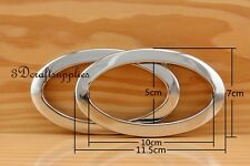 eyelets iron with washer grommets silver nickel oval 2 pcs 4 inch CF53