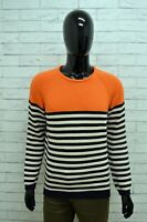 Maglione ZARA MAN Uomo Taglia L Maglia Pullover Cardigan Sweater Righe Cotone