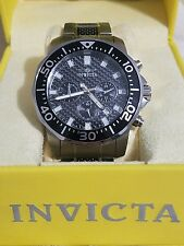 Invicta Pro Diver Chronograph Black Dial Two-tone Mens Watch 17253 READ FIRST