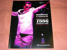 MADNESS - MADSTOCK 3 PROGRAMME FROM 1996 - SUGGS STIFF SKA TWO 2 TONE