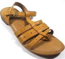 "Born ""Marisol"" Tan Leather Women's T-Strap Sandals 42/10 M"