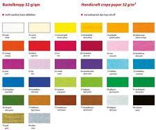 Bähr Bastelkrepp Papier 32 g/qm 50x250cm, 10 Rollen einer Farbe