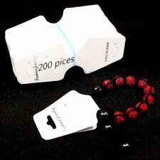 Necklace Earring Jewelry Set Tag 200 Pices White Display Cards Folded  Tags