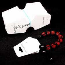 Necklace Earring Jewelry Set Tag 200 Pices White Display Cards  Foldable Tags