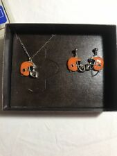 USA Vtg NOS 1978 Cleveland Browns RAINTREE Necklace Earring Gift NFL Football