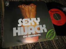 """THE DOWNBEATS Sexy/Hijack 7"""" 1975 Discophon ARBEX SPAIN SEXY NUDE COVER"""