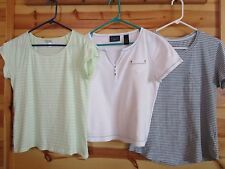 Lot of 3 Women's Short Sleeve Dressbarn Crazy Horse Faded Glory Large Med. GUC!