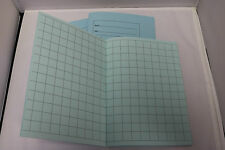 A5 Tinted Paper Square Exercise Books x3 Ideal For KS1 - Dyslexia SEN Pale Blue
