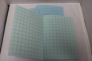 A5 Tinted Paper Square Exercise Book Ideal For KS1 - Dyslexia SEN Pale Blue