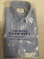Charles Tyrwhitt extra slim fit shirt Blue and Gold Check (size 15 / 35)
