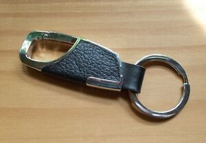 Keychain Carabiner Chrome Finish & Leather