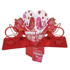 I Really Love You Valentine's Day Pop-Up Birds Greeting Card 3D Pop Up Cards